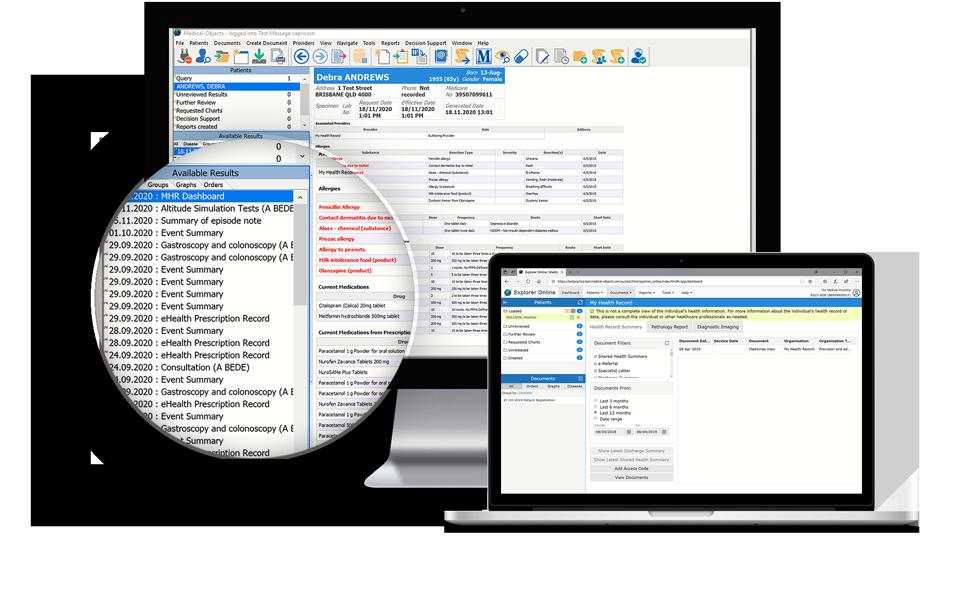 My Health Record in Explorer Practice Software